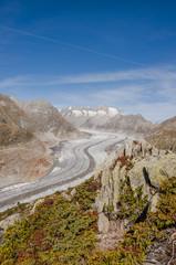 Bettmeralp, Bergdorf, Aletsch, Gletscher, Alpen, Wallis, Schweiz