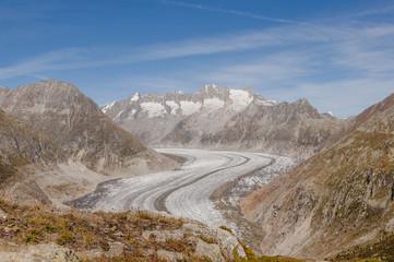 Berttmeralp, Dorf, Alpen, Wallis, Gletscher, Herbst, Schweiz
