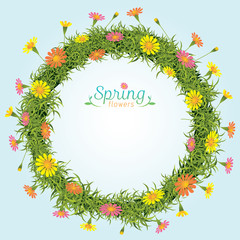 Flowers Spring Season Wreath