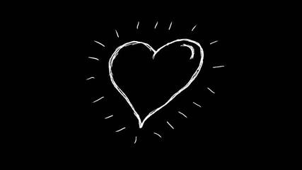 анимация сияющее сердце на белом фоне с маской