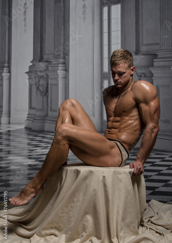 Model in palace