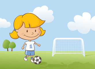 Playing Soccer Girl