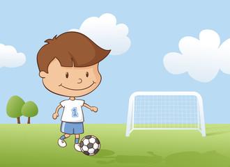 Playing Soccer Boy