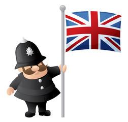 Patriotic Policeman