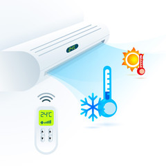 air conditioners cool fun climate element white blue
