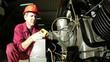 Engineer Using Laser Thermometer Gun