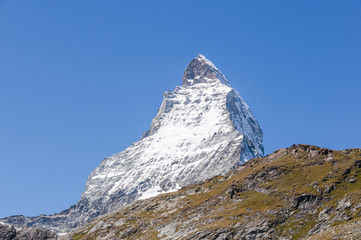 Zermatt, Dorf, Alpen, Walliser Berge, Bergsommer, Schweiz