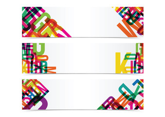 typography colorful banner header background