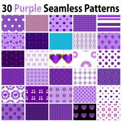 30 Purple Seamless Patterns