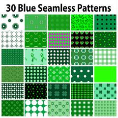 30 Green Seamless Patterns