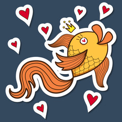 Golden fish character.