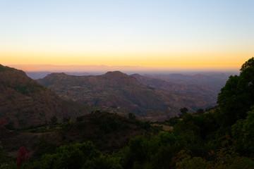 Ethiopian highlands at sunrise