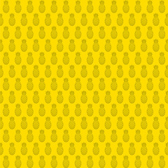 pineapple seamless background design vector