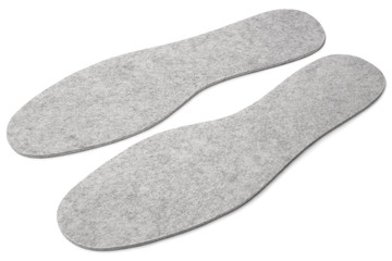 Felted insoles for shoes