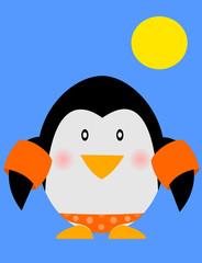 Pinguino con braccioli