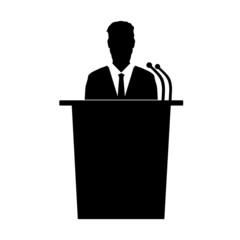 speaker talk vector silhouette