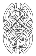 Celtic vector design art isolated on white