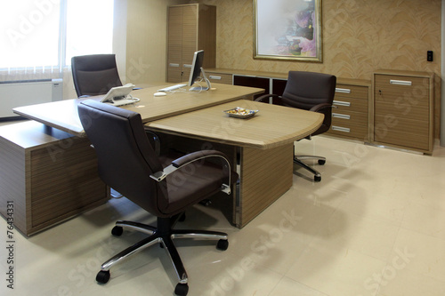 empty manager office with luxurious furniture - 76434331