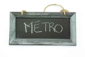 ardoise métro