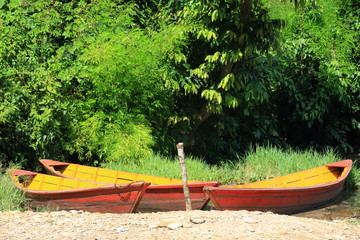 Wooden boats on lake Phewa. Pokhara-Nepal. 0718