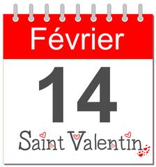 Saint Valentin - Calendrier français