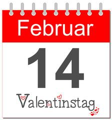 Valentinstag - Kalender deutsch