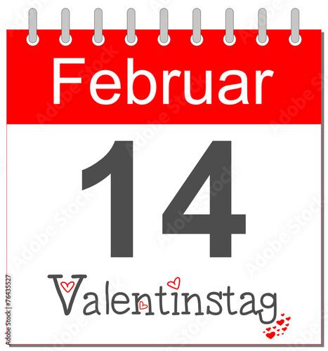 Valentinstag - Kalender deutsch - 76435527