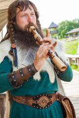 Viking flute player