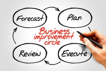 Business Improvement Circle process concept