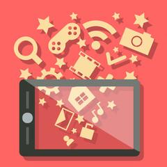 Media technology mobile phone