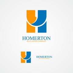 Set of letter H logo for design template elements.