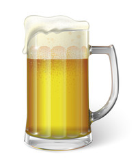 Mug with beer. Vector
