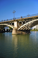 Triana bridge and river Guadalquivir, Seville, Spain