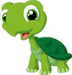 Cute cartoon turtle - 76437547