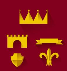 Design of heraldic symbols and elements