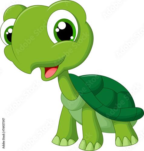 Cute cartoon turtle - 76437547