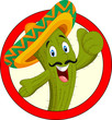 Cartoon cactus character