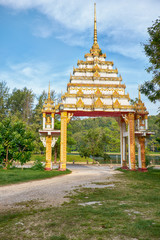 Gates in front of buddist temple at Nai Harn, Phuket