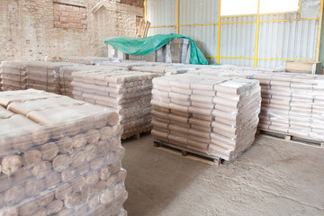 packed fire briquettes