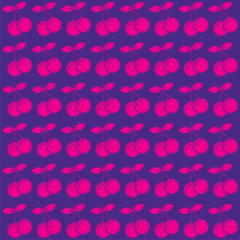 pink cherry pattern background vector