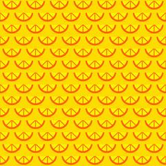 lemon piece seamless pattern design vector