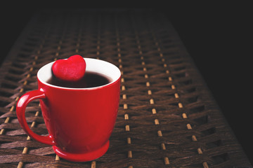 Red cup of tea with heart_3