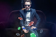 canvas print picture - Poker Player