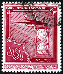 Postage stamp Pakistan 1951 Star and Crescent