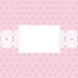 Pink background card with banner
