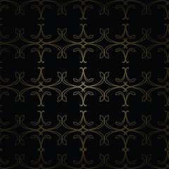 Abstract black & gold Vintage pattern