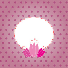 Abstract tulip frame pink card