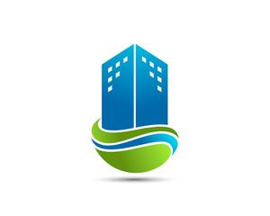 Eco Building Logo Template