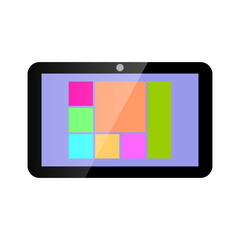 Icon tablet computer.