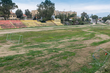 Cyprus - Abandoned football pitch, Nicosia, North Cyprus
